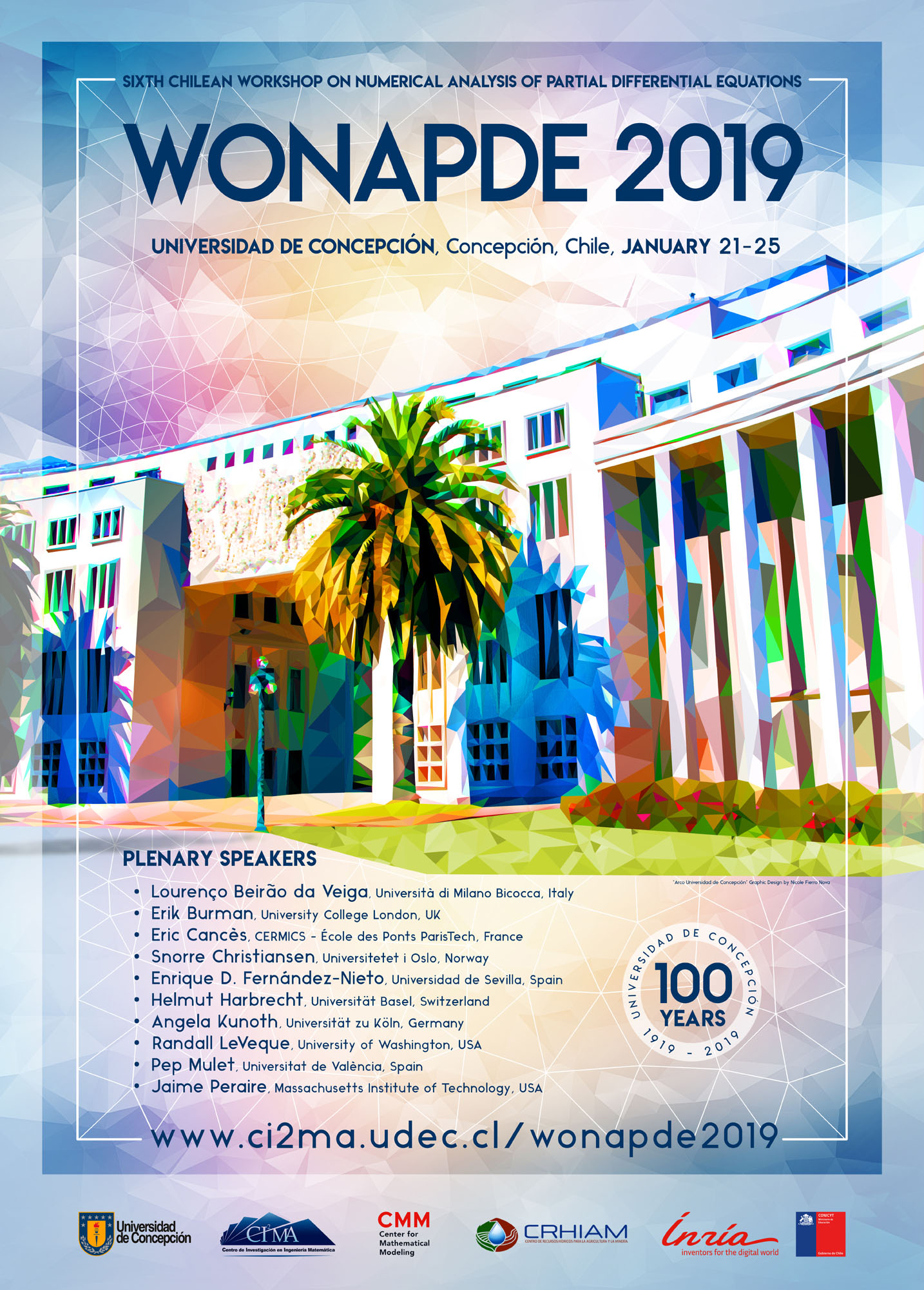 WONAPDE 2019: Sixth Chilean Workshop on Numerical Analysis